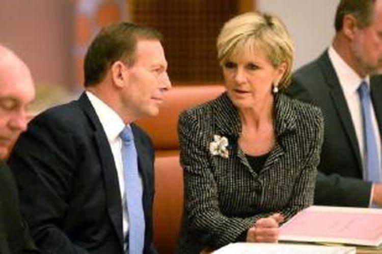 Menlu Julie Bishop coba luruskan maksud pernyataan PM Tony Abbott.
