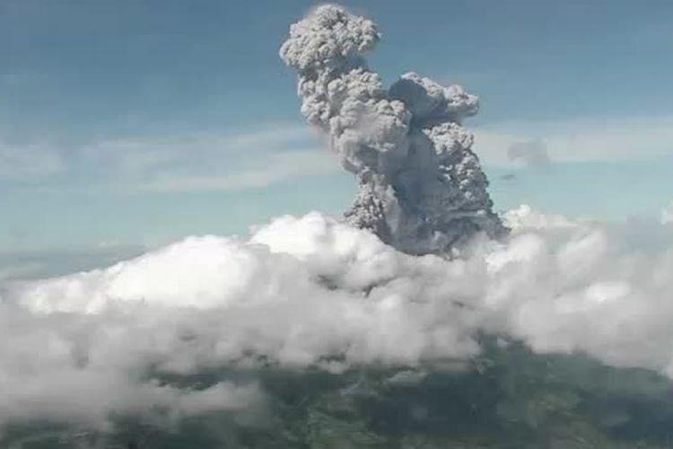 Mount Merapi eruption seen in Boyolali