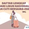 INFOGRAFIK: Daftar Lengkap Hari Libur Nasional dan Cuti Bersama 2022