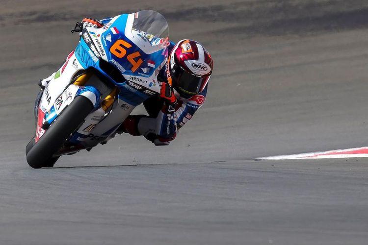 Bo Bendsneyder saat sesi latihan bebas pada MotoGP Portugal
