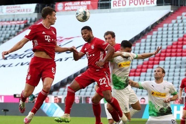Laga Bayern Muenchen vs Borussia Moenchengladbach pada lanjutan pekan ke-31 Bundesliga 2019-2020 di Stadion Allianz Arena, Sabtu (14/6/2020).