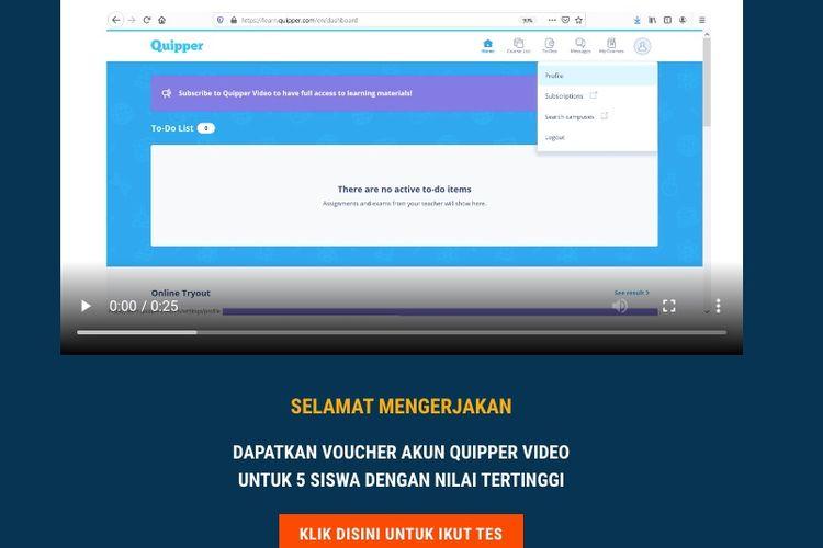 Try Out Online UTBK-SBMPTN 2020, Gratis dari Kompas.com dan Quipper