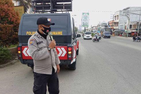 Polisi Keliling Kota Sosialisasi Larangan Pesta Tahun Baru di Aceh