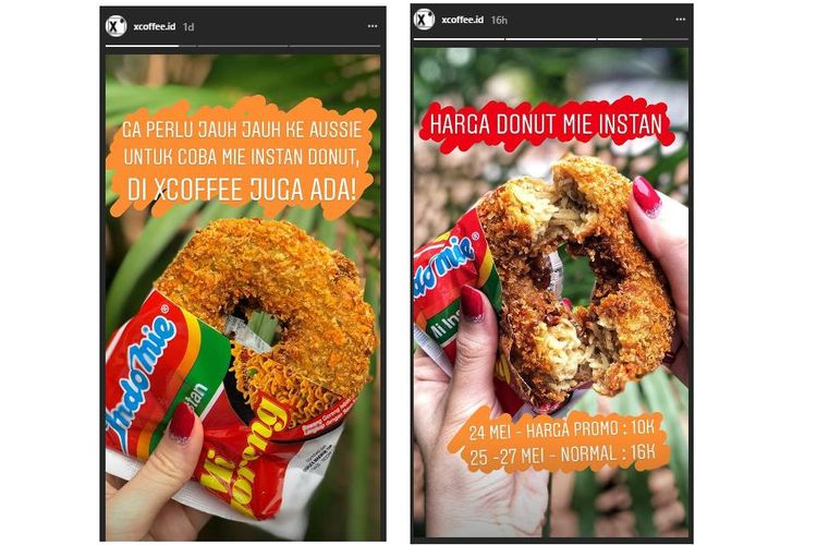Sebuah kafe di Jakarta menjual donat mi goreng mulai hari ini, Kamis (24/5/2018), setelah donat kreasi ini viral di Australia dalam beberapa hari terakhir.