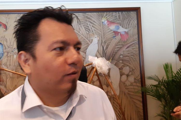 Ade Irfan Pulungan saat menjabat Direktur Hukum dan Advokasi TKN, di Hotel Sari Pan Pacific, Jakarta, Selasa (19/3/2019).