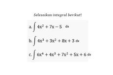 Soal Integral Tak Tentu: Mengintegralkan Fungsi Polinomial