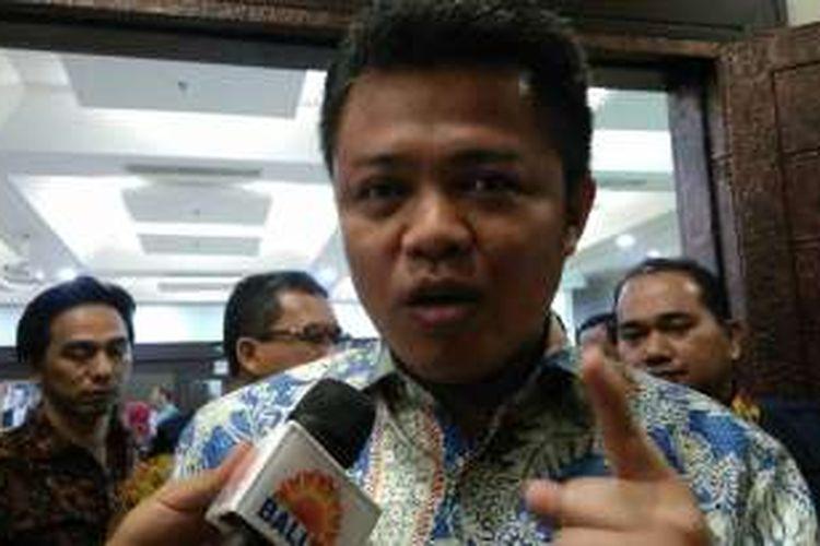 Ketua Komisi Persaingan Usaha (KPPU) Syarkawi Rauf di Kemenkop Jakarta, Selasa (23/8/2016).