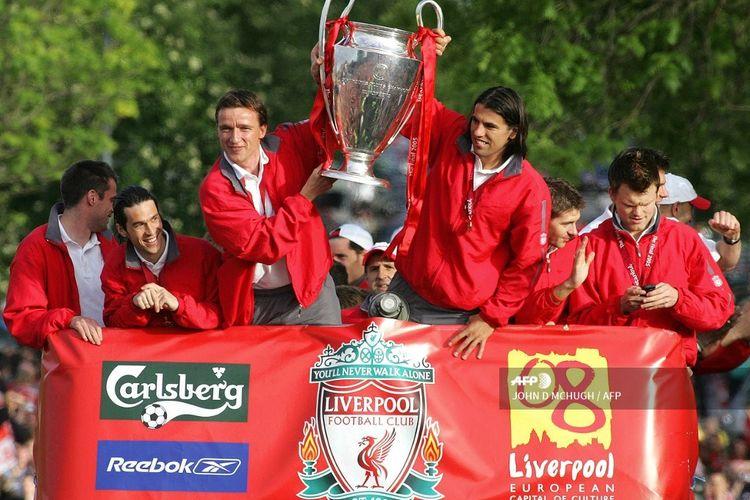 Milan Baros (Liverpool, 2002-2005) saat berhasil bawa The Reds juara Liga Champions pada musim 2004-2005.