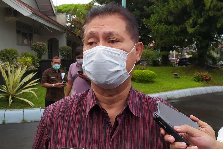 Kepala Dinas Kesehatan (Dinkes) Banyumas di kompleks Pendapa Sipanji Purwokerto, Kabupaten Banyumas, Jawa Tengah, Kamis (14/1/2021).