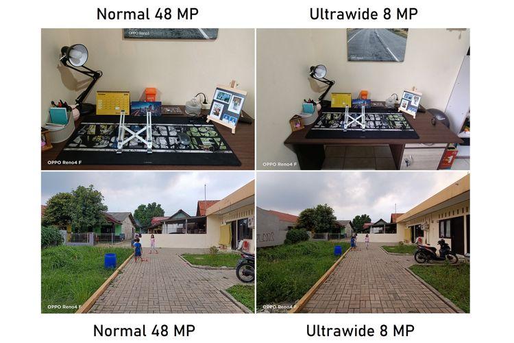 Hasil foto kamera normal 48 MP dan kamera ulrawide 8 MP di Oppo Reno4 F.
