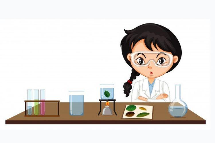 Ilustrasi penelitian di laboratorium untuk mempelajari Ilmu Pengetahuan Alam (IPA). Ada 5 cabang IPA.