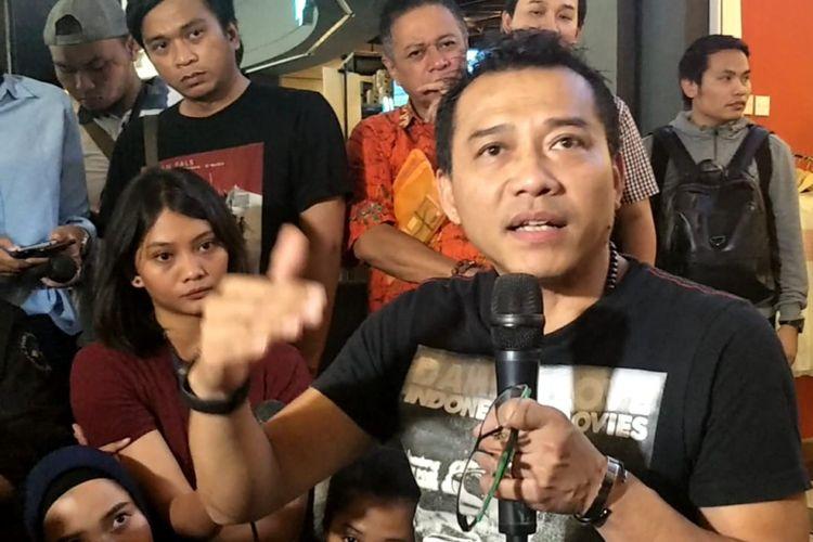 Anang Hermansyah Saat ditemui usai pertemuan dengan pegiat musik untuk membahas Draft RUU Permusikan di Cilandak Town Square, Jakarta Selatan, Senin (4/2/2019).