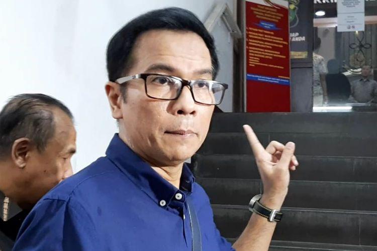 Politisi Parta Nasdem Krisna Mukti mendatangi Polda Metro Jaya, Semanggi, Jakarta Selatan, Senin (26/8/2019).
