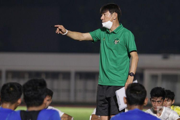 Pelatih Tim Nasional Indonesia, Shin Tae-yong.