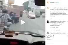 Video Viral Aksi Bajing Loncat Incar Truk Digagalkan Anggota TNI
