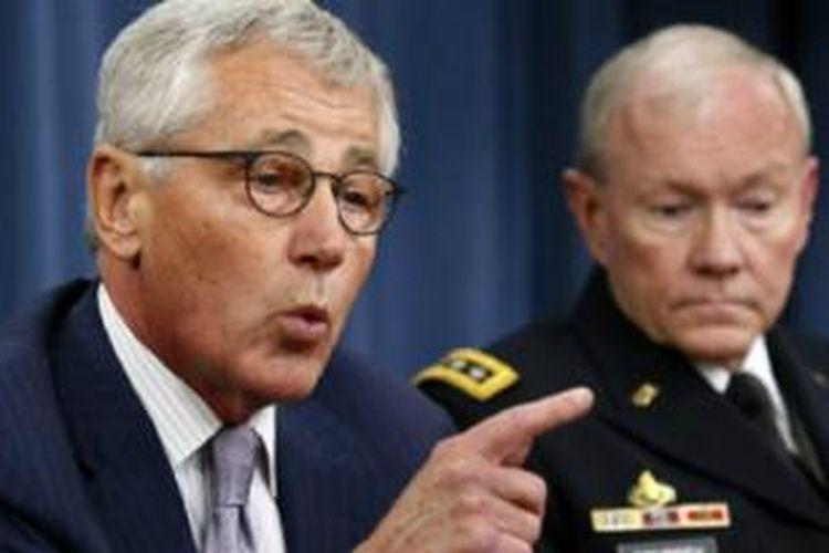 Menhan AS Chuck Hagel mengatakan ISIS memiliki pendanaan berlimpah.