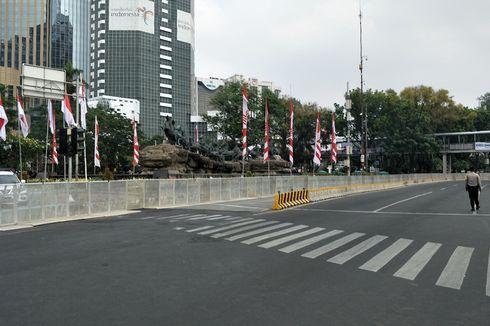 Jalan MH Thamrin-Medan Merdeka Barat Ditutup, Sejumlah Rute Transjakarta Dialihkan