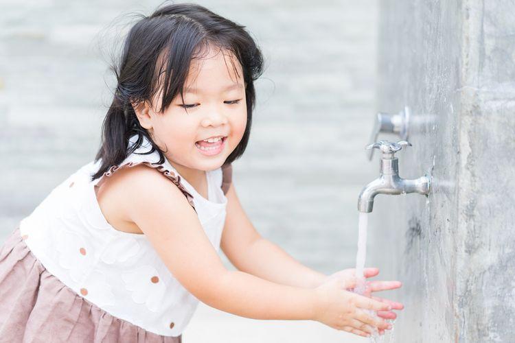 Ilustrasi mencuci tangan