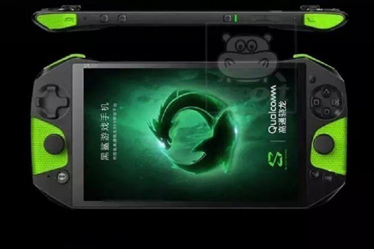 Bocoran gambar ponsel gaming Black Shark dengan aksesori controller game.