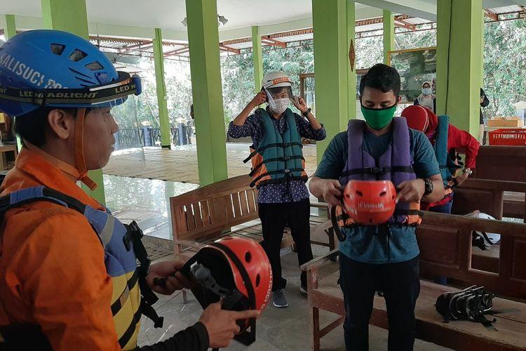 Simulasi Pembukaan Kawasan Gua Kalisuci, Gunungkidul, Jumat (12/6/2020)