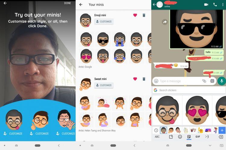 Gboard emoji dari foto selfie.
