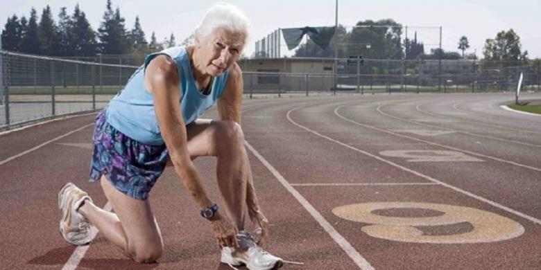 Joy Johnson. Gambar diambil beberapa hari sebelum New York Marathon yang digelar Minggu (3/11/2013).