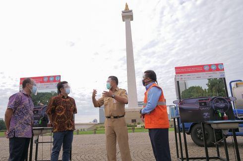 Komunitas Honda Sumbang 45 Wastafel Nirsentuh di Monas