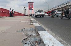 CCTV Rusak, Penyebab Hilangnya 33 Tiang Pembatas Jembatan Ampera Masih Misterius