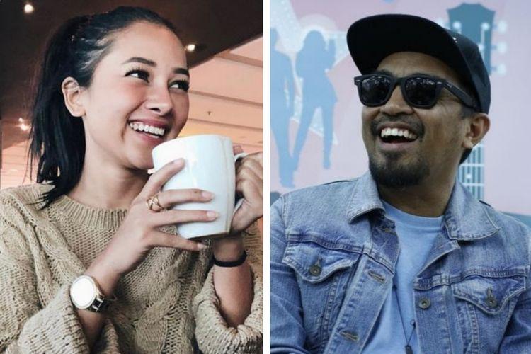 Penyanyi dangdut Mutia Ayu dan Glenn Fredly. Pasangan kekasih ini menikah pada Senin (19/8/2019) malam.