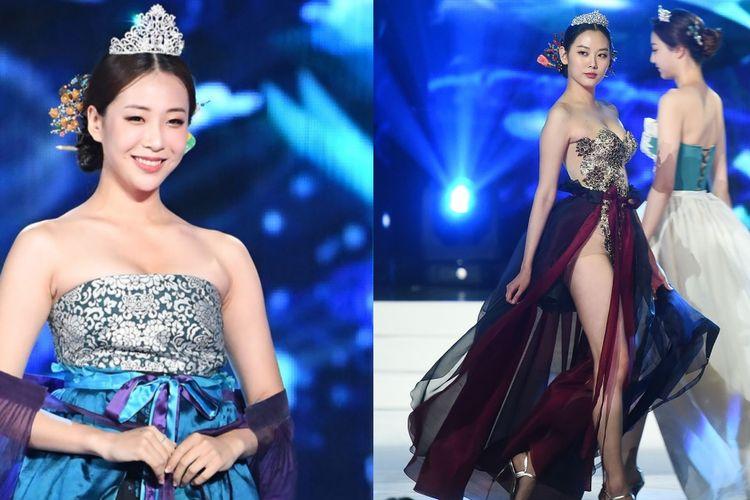 Kontes kecantikan Miss Korea 2019 mendapat kritik keras karena para kontestan mengenakan kostum tradisional hanbok dengan model seksi.