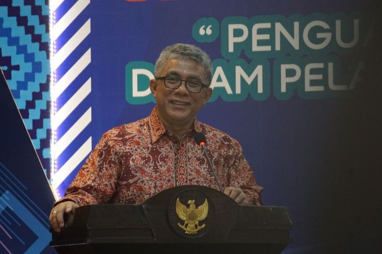 Sekretaris Jenderal Kemenkes RI drg Oscar Primadi dalam Rapat Kerja Kesehatan Daerah (Rakerkesda) Kalimantan Barat, Pontianak, Kamis (28/3/2019).