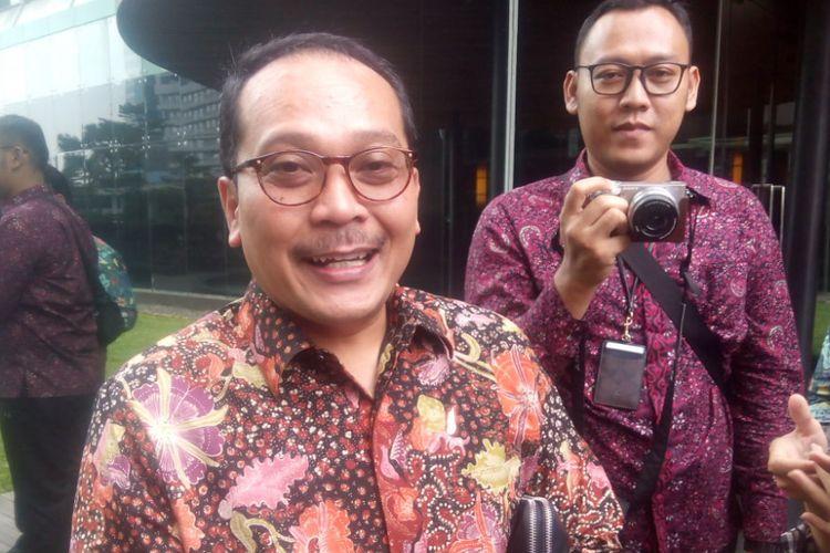 Direktur Keuangan PT Pupuk Indonesia (Persero), Indarto Pamoengkas di Hotel Indonesia Kempinski, Menteng, Jakarta Pusat, Rabu (28/11/2018).