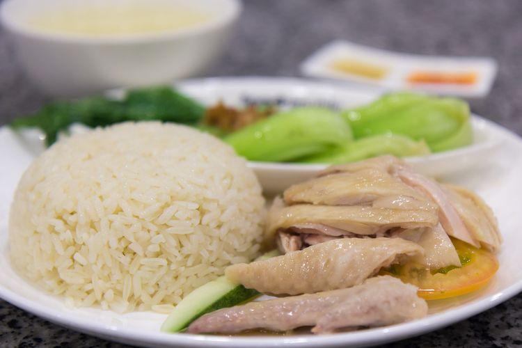 Nasi hainan khas Singapura