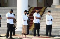 Presiden Jokowi dan Iriana Shalat Idul Fitri di Halaman Istana Bogor