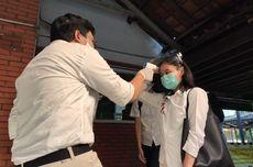 Ikut UTBK SBMPTN 2020 di UI, Peserta Ujian Diukur Suhu dan Pakai Face Shield