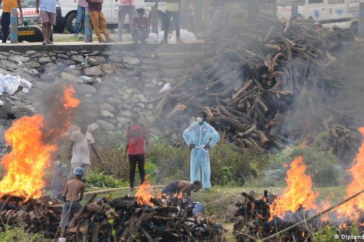 Krematorium di Benggala Barat, India.