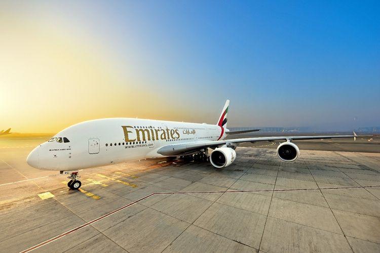 Ilustrasi pesawat Emirates