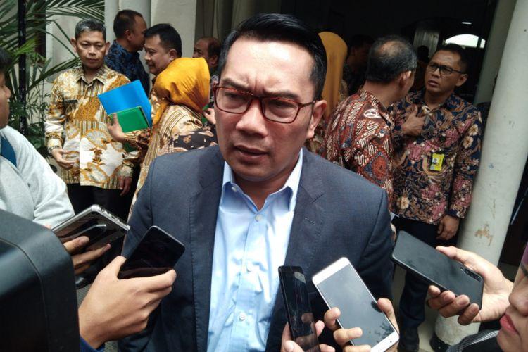 Gubernur Jawa Barat Ridwan Kamil saat ditemui di  Kantor DP3AKB, Jalan Sumatera, Kota Bandung, Jumt (3/1/2020).