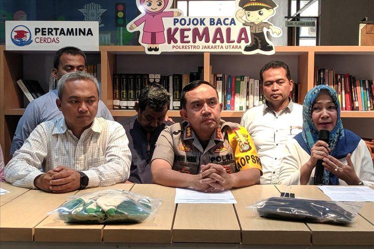 press release kasus pencabulan siswi oleh guru olahraga di Polres Metro Jakarta Utara