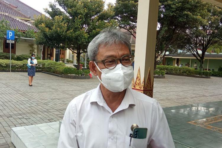 Ketua Satgas Oksigen DIY Tri Saktiana Saat ditemui di kompleks Kepatihan, Kota Yogyakarta, Rabu (21/7/2021)