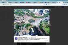 Massa Prabowo Berebut Makanan di Depan KPU Sumut