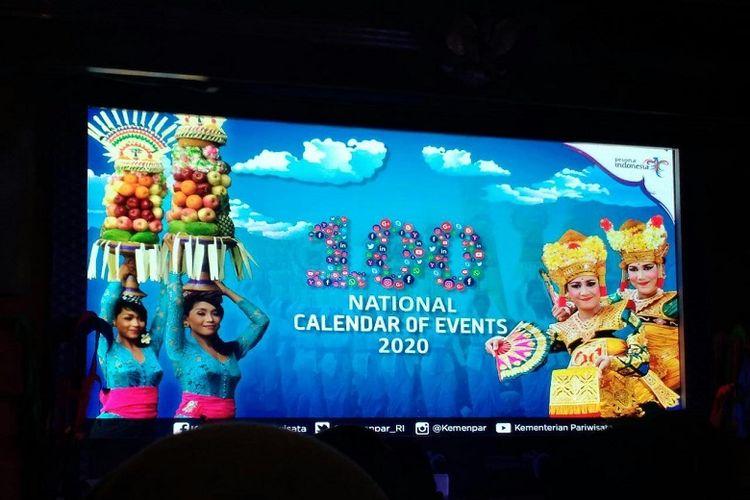 Acara launching Calender of Event 2019 di Kementerian Pariwisata, Jakarta.