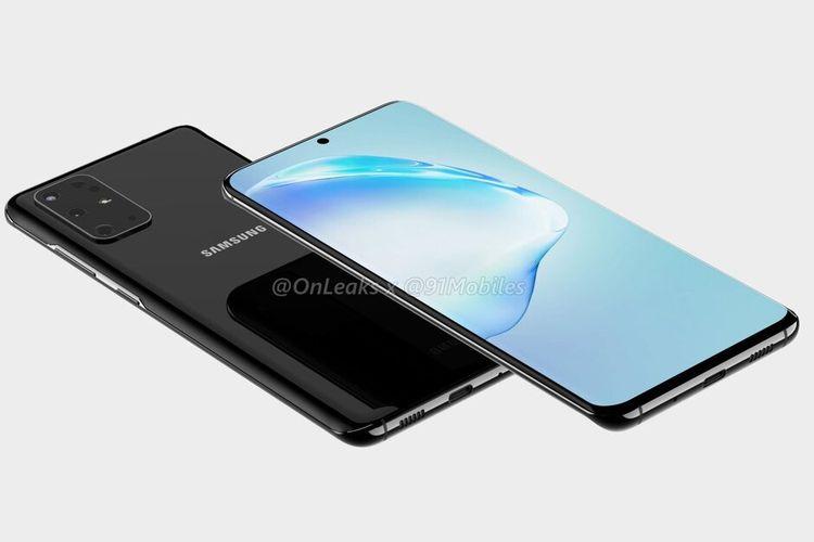 Ilustrasi render Samsung Galaxy S11.
