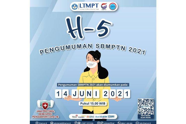 Poster H-5 pengumuman SBMPTN 2021