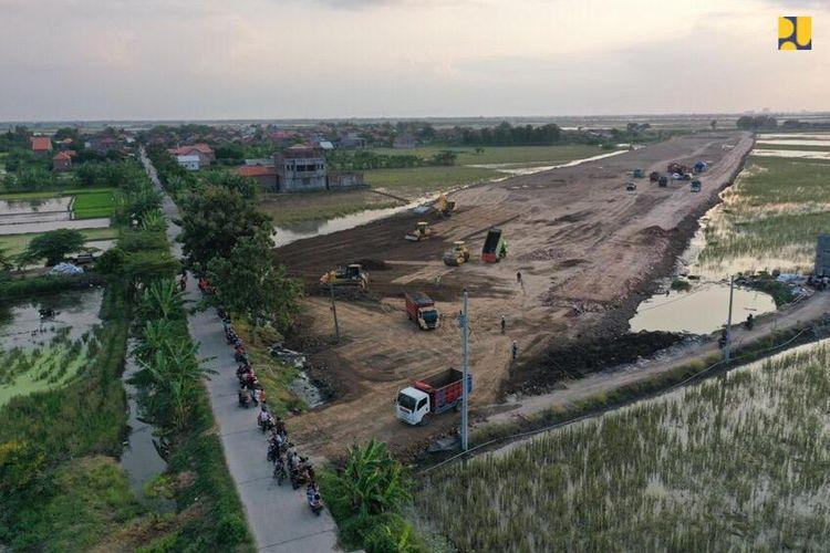 Progres Tol Semarang-Demak, Selasa (11/82020).