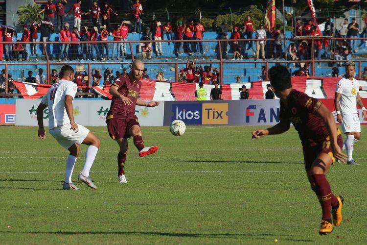 Pertandingan PSM Vs Barito Putera yang belangsung di Stadion Andi Mattalatta, Makassar, Rabu (14/8/2019).