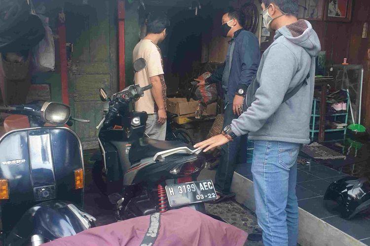 Sepeda motor yang diduga digunakan pelaku percobaan pencurian sepeda.