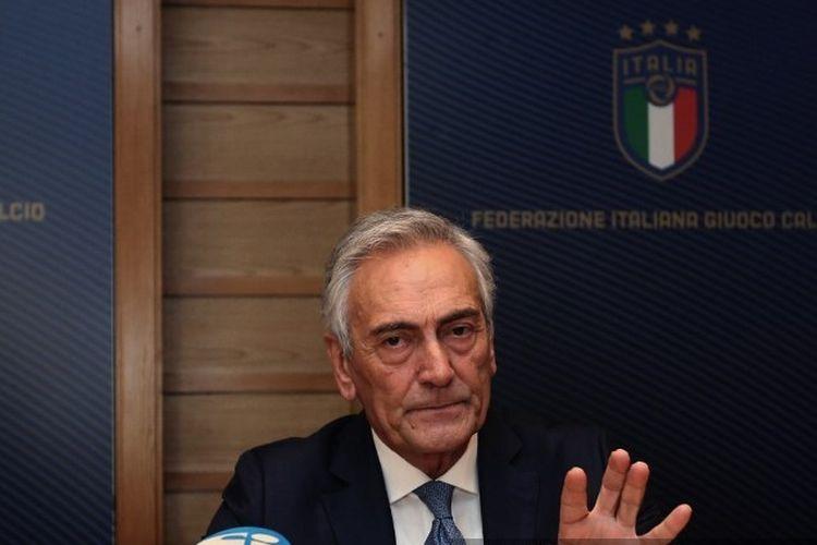 Presiden FIGC Gabriele Gravina.