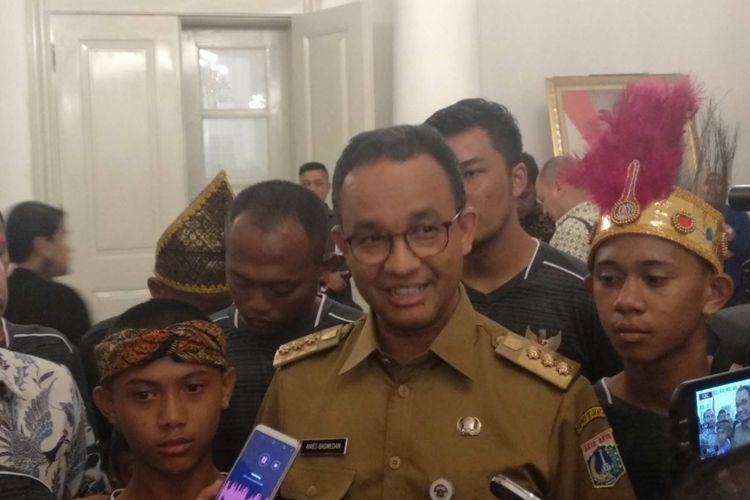 Gubernur DKI Jakarta Anies Baswedan di Balai Kota, Senin (7/5/2018).