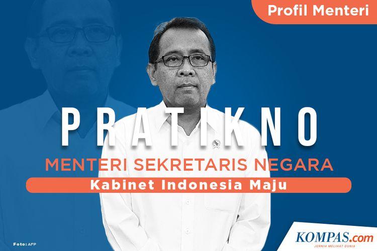 Profil Pratikno, Menteri Sekretaris Negara
